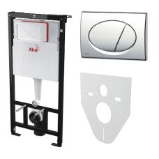 Инсталляция для унитаза с кнопкой Alcaplast AM101/1120 M71 (хром) и звукоизоляцией