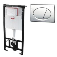 Инсталляция для унитаза с кнопкой Alcaplast AM101/1120 M71 (хром), комплект