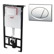 Инсталляция для унитаза с кнопкой Alcaplast AM101/1120 M71 (хром)