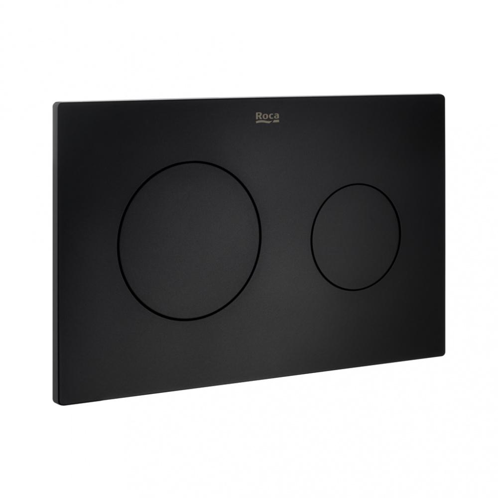 Кнопка смыва Roca PL10 890089206, черная матовая