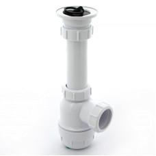 Сифон для раковины McAlpine MRSK2 1 1/2'х40мм, 70мм бутылочный, нержавеющая решетка