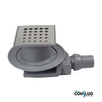 Pestan Confluo Standard Drops 4 13000012, Душевой трап, решетка 15х15см