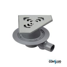 Душевой трап Pestan Confluo Standard Angle 1 13000013, для угловой установки, решетка 20х20см