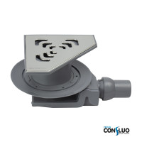 Душевой трап Pestan Confluo Standard Angle 2 13000014, для угловой установки, решетка 20х20см