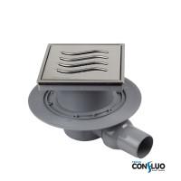 Душевой трап Pestan Confluo Standard Tide 1 Mask 13000070, решетка 15х15см, с рамкой