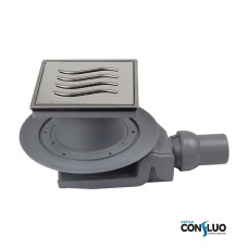 Душевой трап Pestan Confluo Standard Tide 4 Mask 13000081, решетка 15х15см, с рамкой