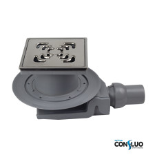 Душевой трап Pestan Confluo Standard Square 4 Mask 13000084, решетка 15х15см, с рамкой