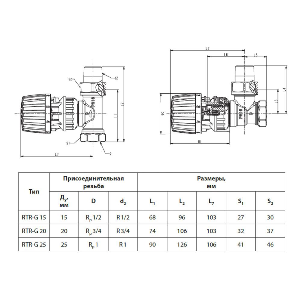 Термостатический клапан для радиатора Danfoss RTR-G 013G7024 прямой ДУ15 1/2 (RA-G)