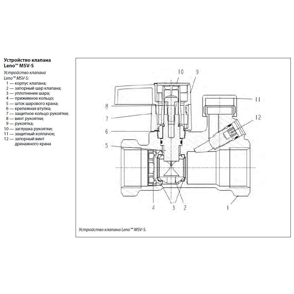 Ручной запорный клапан Danfoss MSV-S 003Z4013