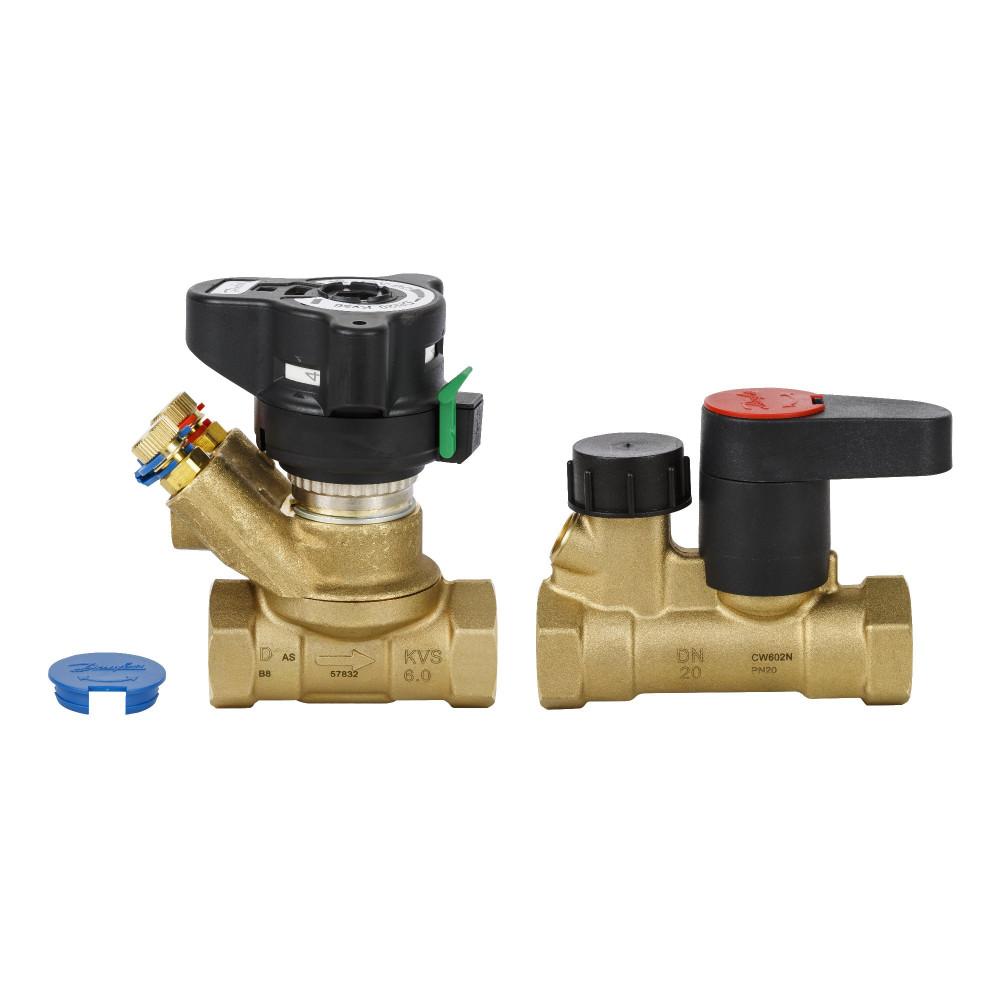 Комплект балансировочных клапанов MVT/MSV-S Danfoss 003Z4155 ДУ40, 1 1/2, Kvs 26, латунь