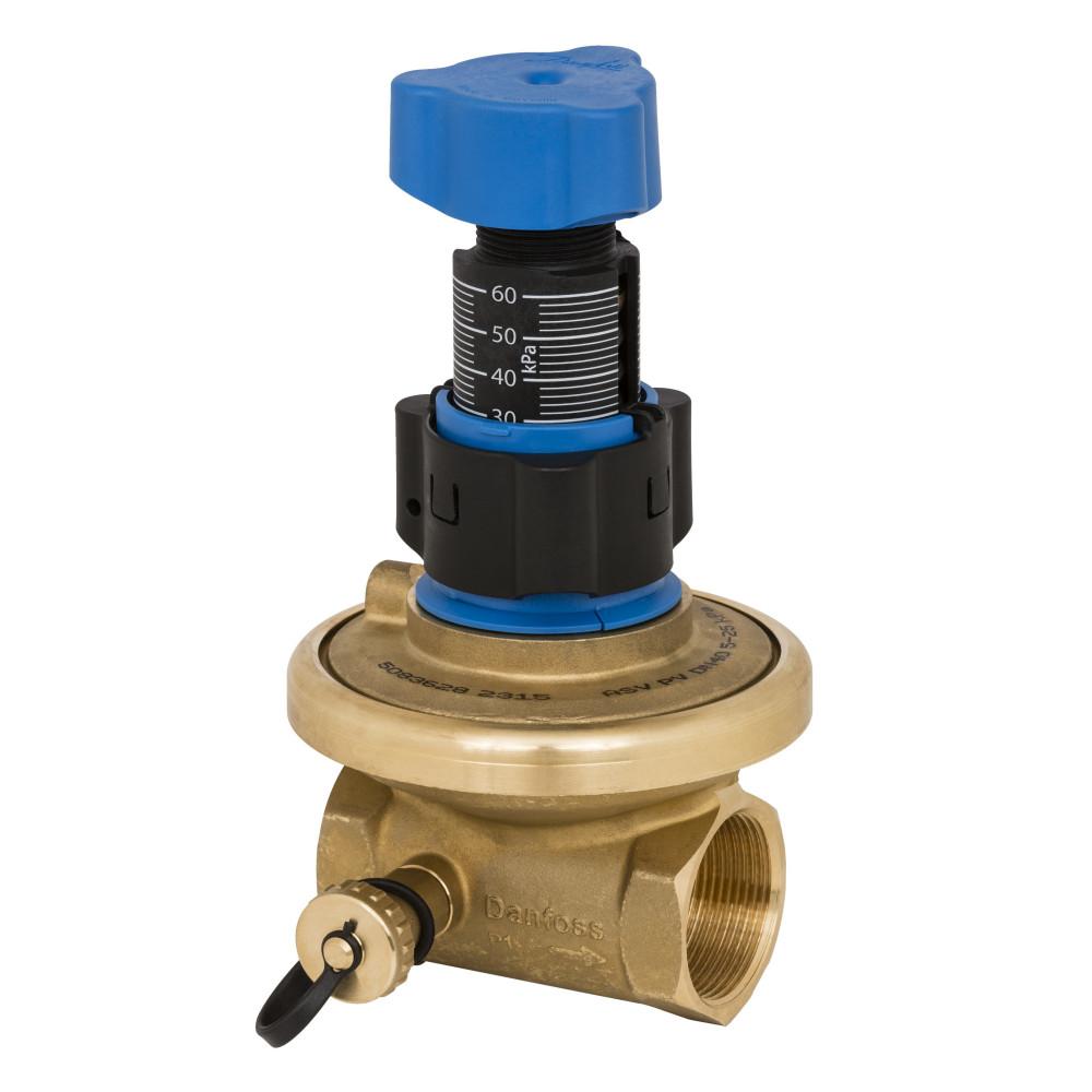 Балансировочный клапан APT Danfoss 003Z5745 Ду40, Kvs 10, BP 1 1/2, латунь