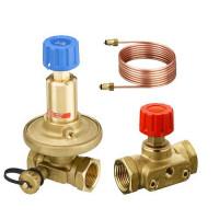 Комплект клапанов балансировочных APT/CDT Danfoss 003Z2211 Ду15/20, Kvs, м3/ч=1,6/2,5, BP , латунь