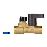 Ручной запорный клапан MSV-S Danfoss 003Z4111 ДУ15, G ¾ A, Kvs, м3/ч:3, латунь