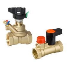 Комплект балансировочных клапанов MSV-BD/MSV-S Danfoss 003Z4054 ДУ32, 1 1/4, Kvs 18, латунь