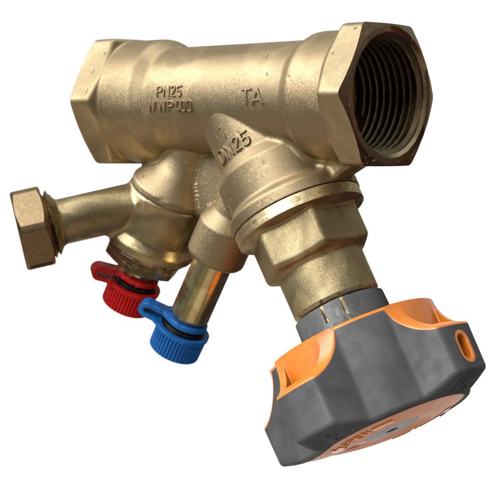 Балансировочный клапан IMI TA STAD 52851-615 с дренажом, Ду 15, BP 1/2, Ру 25, Kvs=2.56 | 52851615