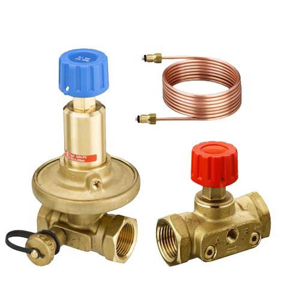 Комплект клапанов балансировочных APT/CDT Danfoss 003Z5662 Ду20, Kvs 2,5, BP 3/4, латунь
