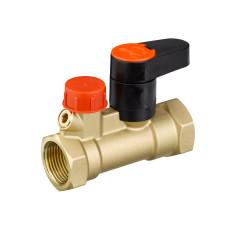 Ручной запорный клапан MSV-S Danfoss 003Z4012 ДУ20, Rp ¾, Kvs, м3/ч:6, латунь