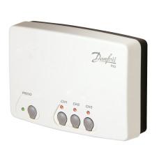 Приемник сигнала беспроводных комнатных термостатов RX-3, 3 канала Danfoss RX-3