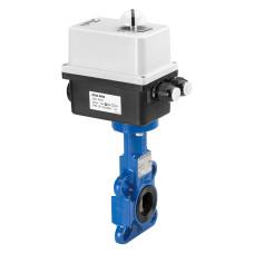 Danfoss VFY-WA 082G7362 Затвор дисковый с электроприводом, Ду 32/40, установка в середине трубопровода, электропривод — AMB-Y 24 В, перем. ток или пост. ток, вес, кг 3.4, стальной диск