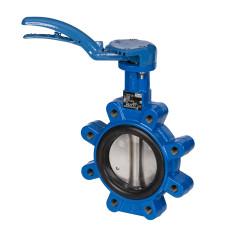 Danfoss VFY-LH 065B8413 Затвор дисковый с ручным управлением, Ду 100, с рукояткой, установка в середине или в конце трубопровода, вес, кг 7.6, чугунный диск, 065B7370