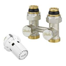 Danfoss RLV-KS/RTRW-K 013G2135 Комплект для радиаторов с нижним подключением, состоящий из клапана RLV-KS и термостата RTRW-K, для установки на клапаны М30 х 1,5, G ¾ A; G ½ A, прямой
