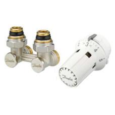 Danfoss RLV-KS/RTRW-K 013G2137 Комплект для радиаторов с нижним подключением, состоящий из клапана RLV-KS и термостата RTRW-K, для установки на клапаны М30 х 1,5, G ¾ A; G ½ A, угловой
