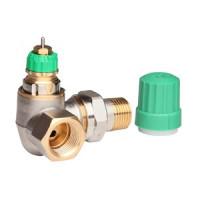 Термостатический клапан, угловой, трехосевой, левое исполнение ДУ15 RA-DV Danfoss 013G7720 | 1/2 (динамический)