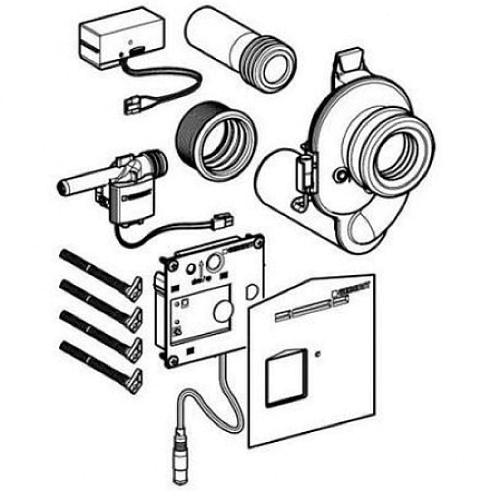 Комплект привода смыва для писсуара скрытого распознавания Geberit
