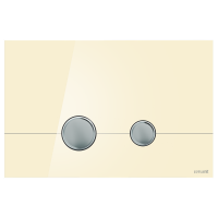 Cersanit Кнопка STERO, стекло, бежевая глянцевая