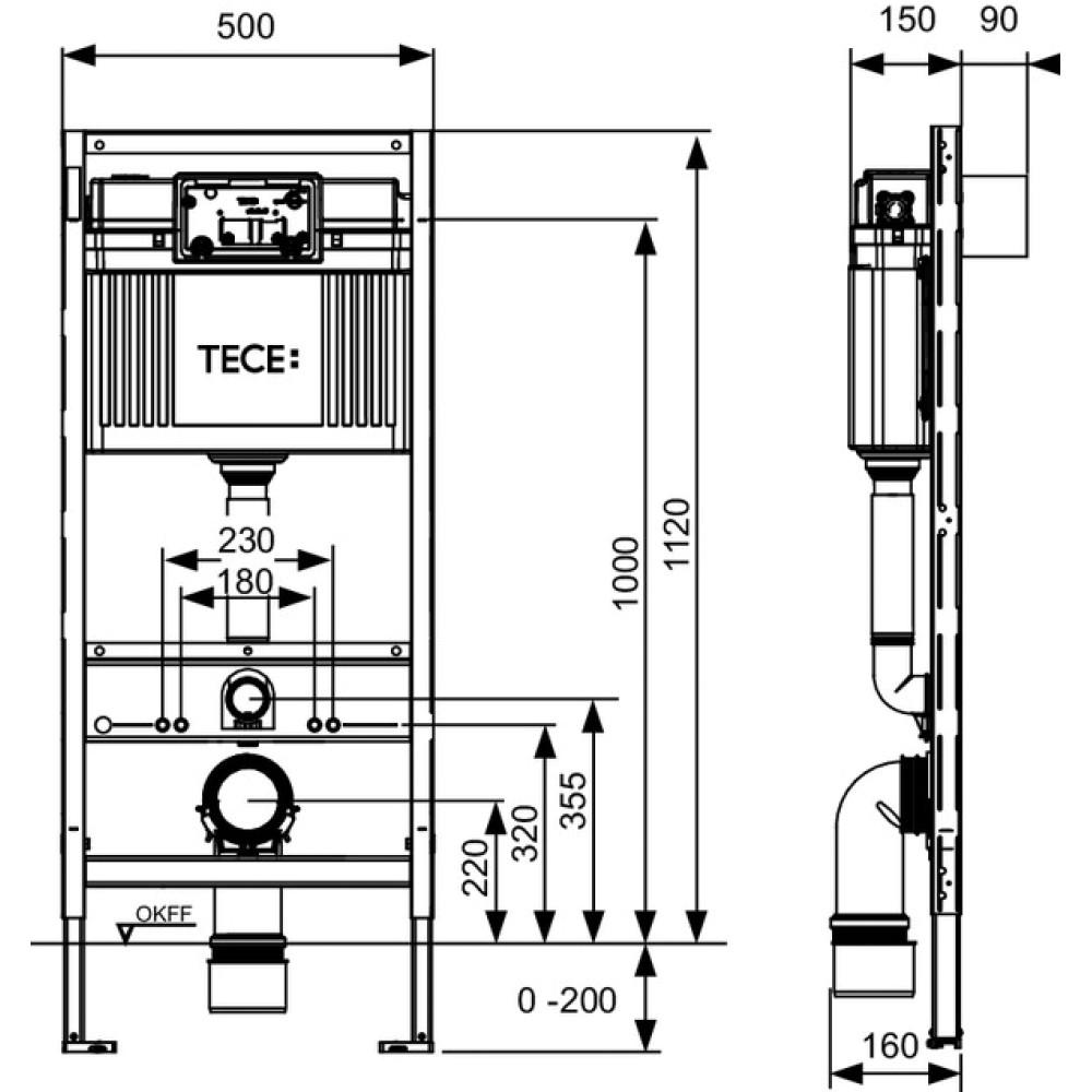 TECEprofil 9300000 Инсталляция для установки унитаза