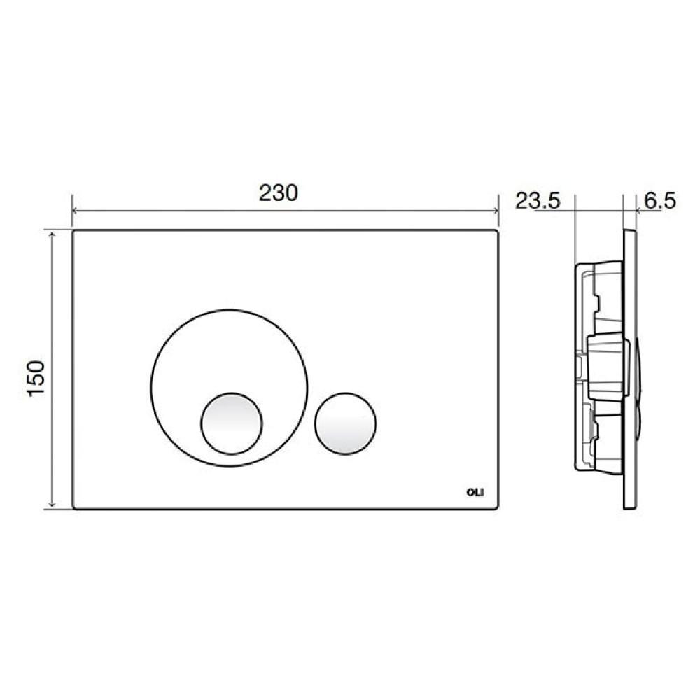Кнопка смыва OLI Globe 152951, матовый хром