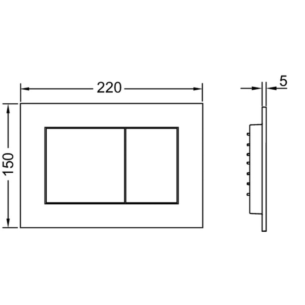 Панель смыва унитаза TECEnow 9240403, черная глянцевая