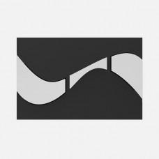Кнопка смыва Sanit Creativa 16.736.00..0016black/cr черная/хром