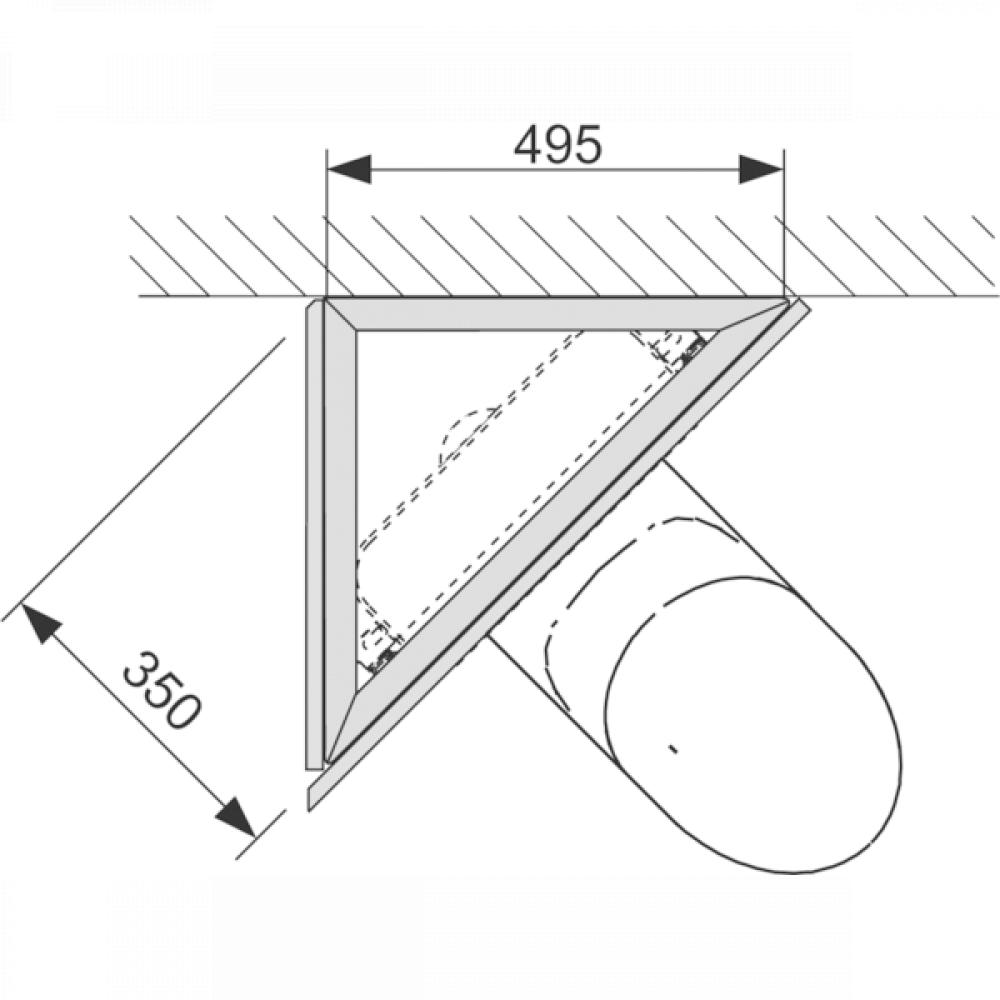 Комплект для угловой установки инсталляции TECE 9380004