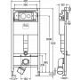 Viega Prevista Dry 792855 Монтажный модуль к подвесным унитазам