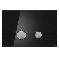 Cersanit P-BU-STE/Blg/Gl Кнопка STERO, стекло, черная глянцевая