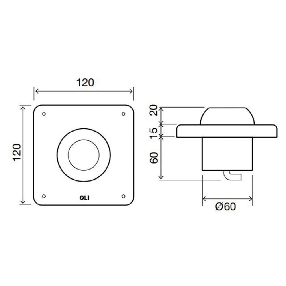 Кнопка ножного управления смывом Oli 605201