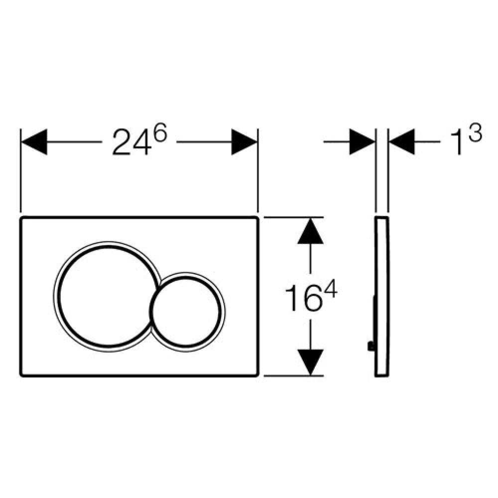 Кнопка смыва Geberit Sigma01 115.770.KA.5 хром/матовый хром