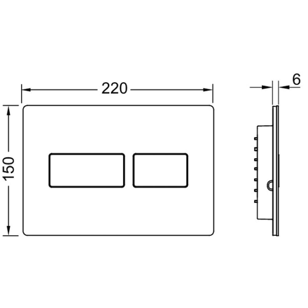 Кнопка смыва TECE solid 9240431 хром