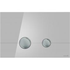 Cersanit P-BU-STE/Grg/Gl Кнопка STERO, стекло, серая глянцевая