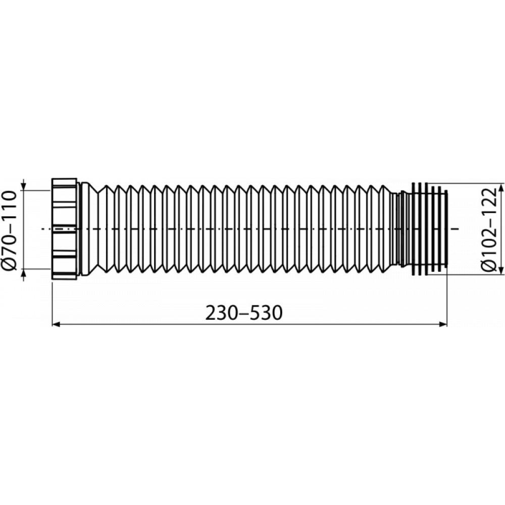 Гофра для унитаза Alcaplast A97SN 230-530мм