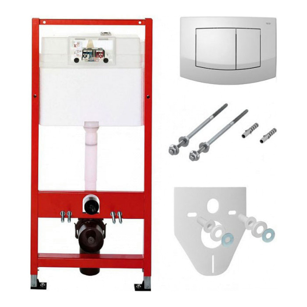 TECEbase K400200 Инсталляция для унитаза 4 в 1 с белой кнопкой TECEambia