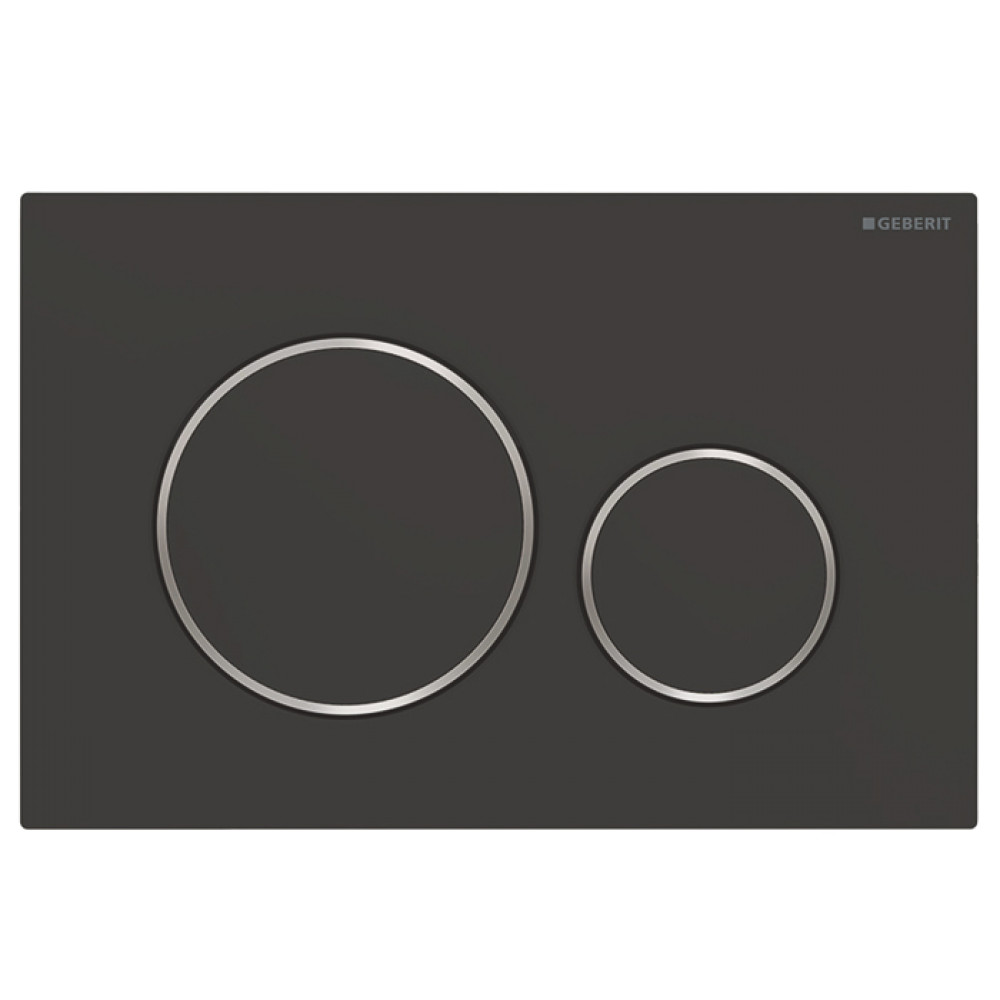 Geberit Sigma20 115.882.14.1 Кнопка смыва, черная/хром