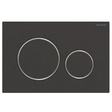 Кнопка смыва Geberit Sigma20 115.882.14.1 черная/хром