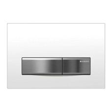 Кнопка смыва Geberit Sigma50 115.788.11.5 белая/сталь