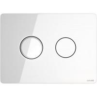 Кнопка смыва Cersanit ACCENTO CIRCLE, стекло, белая