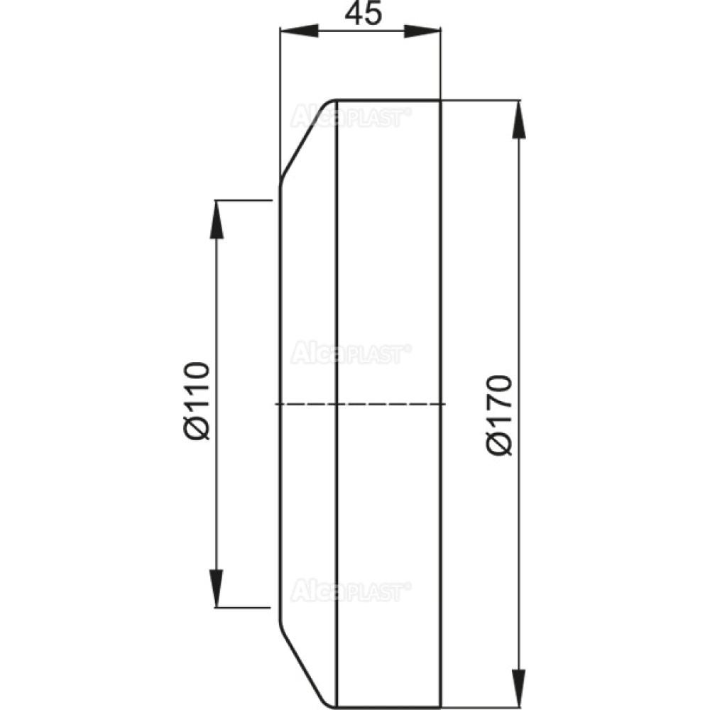 Декоративное обрамление для унитаза Alcaplast A98
