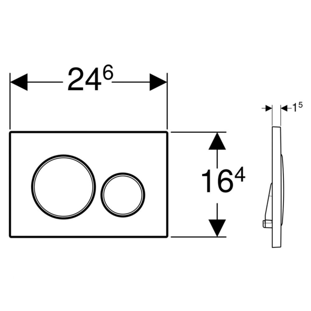 Geberit Sigma20 115.882.JQ.1 Кнопка смыва матовый хром