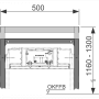 Комплект для изменения высоты крепления модуля к стене TECE 9380002