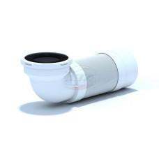 Гофра для унитаза АНИ пласт K722R жесткий выпуск, угол 90, для пластиковых труб